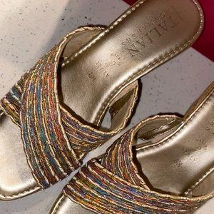 Italian shoemaker wedged sandals